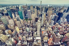 On Top || New York || USA (ton1.werner) Tags: capturemoments travel wideangle cityscape skyscraper lookdown observatory manhattan nyc newyork