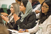 L-R: Lilit Musinyan, YPARD, Armenia ; Maryam Oghnoum, University of Tehran, Iran ; Ratih Nawangwulan, MSc Student, Food Technology, Wageningen University (FAO Forestry) Tags: unfao youth rome international conference cpf collaborative partnership forests people meeting faooftheun