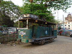 Howrah Water Car at Esplanade (Guy Arab UF) Tags: west bengal transport corporation howrah water car works tram esplanade terminus kolkata india calcutta tramways tramway streetcar strassenbahn trams