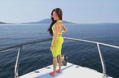 A Sense Of Summer (toobila) Tags: sosportybarbie curvybarbie curvyfashionistasdoll brunettebarbie fashionphotography model mattel barbie barbiedoll fashionistasdoll breeze boat yellow pink curvyfashionistas fashiondollphotography sexy hot