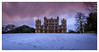 Wollaton Hall before the sledders. (Ian Emerson) Tags: wollatonhall council nottingham nottinghamshire lovenotts morning sunrise magenta clouds snow winter march trees canon hall park city outdoor