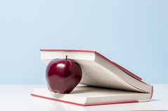 Apple and book (Ncor: Photography) Tags: education apple school book background knowledge illustration vector college concept textbook back symbol black study stack fruit science isolated red white icon object abstract literature information sign green class learn board blackboard university classroom library art chalkboard nobody text lesson chalk graphic teacher computer idea shape color set food collection wisdom teach educate learning