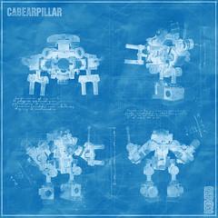 Cabearpillar Power Loader B-948X - Original blueprint (Priovit70) Tags: lego powerloader classicspace teddybear heavyweights exosuit afol moc olympuspenepl7