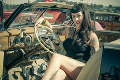 "Pinup Model - christopherallisonphotography-0683 (christopherallisonphotography) Tags: ""christopher allison photography"" ""san diego"" portrait pinup model girls girl gals dolls women rockabilly outdoors ""classic cars"" ""hot rod"" ""car show"" vintage retro auto automobile ""natural light"" engine motor bumper hood chrome lights wheel ""white wall"" tires mirror lamp sony alpha a300 ""el cajon"" ""cops rodders"" police blonde blond amy ""model mayhem"" pretty goodguys delmar kustom kustomculture carhoodgirl explore sandiego milf laroadsters hudson canon 7d green shoes"