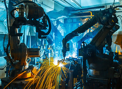 Team welding Robot movement Industrial automotive part in factory (IdekoIK4) Tags: closeup automotive steel nobody heavy cars welder machinery row engineering line assembly arm mechanical automate bodywork conveyor technology equipment automobile hightech production conveyer platform automation transportation sparks part construction manufacture metal welding service hydraulics robots modern sparkles robotic automated industrial futuristic safety manufacturing plant machine factory working industry auto electronics