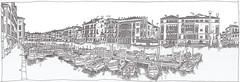 Italy, Venice, Fondamenta Riva Olio (Support) (pirlouit72) Tags: italie italy venise venice sketch drawing dessin croquis urbansketch urbansketcher urbansketchers carnetdevoyage unesco