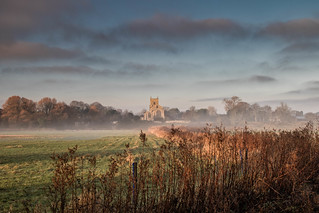 Wiveton Church in Early Morning.