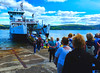 Scotland West Highlands Argyll people waiting to go on the car ferry Loch Shira at the island of Cumbrae 9 August 2017 by Anne MacKay (Anne MacKay images of interest & wonder) Tags: scotland west highlands argyll people passengers caledonian macbrayne calmac loch shira island cumbrae slipway xs1 9 august 2017 picture by anne mackay