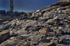 Ice and Cascades, 2018.01.26 (Aaron Glenn Campbell) Tags: francisewalterdam whitehaven luzernecounty pennsylvania outdoors nature optoutside winter ice frozen thaw melting 3xp ±3ev hdr macphun aurorahdr2017 nikcollection colorefexpro viveza sony a6000 ilce6000 mirrorless sigma 19mmf28exdn wideangle primelens neewer variable ndfilter neutraldensity