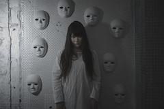 The ensure mask (TAKAGI.yukimasa1) Tags: portrait woman people cute girl beauty female fineart canon eos 5dsr japanese asiangirl asian cool dark