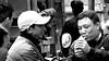 Smoko - Ha Noi (VIETNAM) (ID Hearn Mackinnon) Tags: old quarter hanoi ha noi vietnam vietnamese viet 2016 south east asia asian north men people smoking smoko black white monochrome street city inner urban market marketplace place