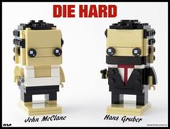John McClane & Hans Gruber - Die Hard (MSP!) Tags: lego brickheadz die hard john mcclane hans gruber