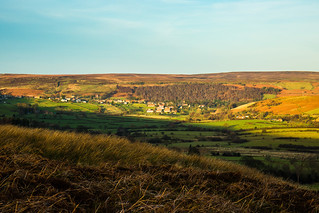 Long Shadows spreading across a Moors Village