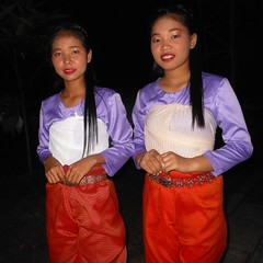 Two female students who participate (rodeochiangmai) Tags: ladies cambodia students portrait