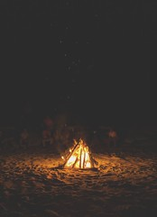 Caribbean Beach Bonfire. (thnewblack) Tags: google pixel2xl android smartphone lowlight beach bonfire fire snapseed 122mp f18 jamaica caribbean