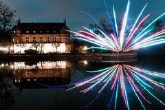 Reflections (Ruffyruffneck) Tags: reflection water gladbeck wittringen firework onetry longexposure colors night sonyalpha