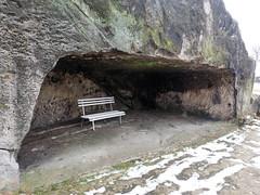 Bank in der Höhle (1elf12) Tags: burg festung regenstein blankenburg germany deutschland bank bench höhle castle fort fortress