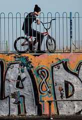 South Shields Skate park. (CWhatPhotos) Tags: cwhatphotos coast bythe skate park fence grafitti art graffiti cycle stunt digital camera pictures picture image images photo photos foto fotos that have which contain olympus penf lens south shiields north east england uk