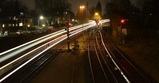 Doppeleinfahrt in Hamburg-Blankenese / two trains arrive at the same time Hamburg-Blankenese