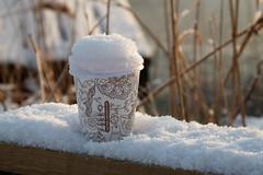 Caution contents hot (evisdotter) Tags: cautioncontentshot winter snow macro sooc light kaffe coffee
