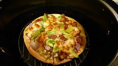 Air fryer cooking (Sandy Austin) Tags: panasoniclumixdmcfz70 sandyaustin westauckland auckland northisland newzealand massey pizza homecooking airoven airfryer