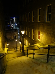 Dark Side of the Moon (Ian Robin Jackson) Tags: aberdeen steps lights night darkness sony zeiss scotland mood windows february 2018 evening atmosphere cityscape urban street winter