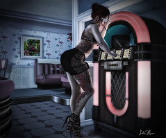 σпε ʟαƨт ƨσпɢ (♣♦ Lilly von Nekro ♦♣) Tags: virtual vintage people pose pinup art dark babes fashion tattoo beauty 3d secondlife second life illustration sl girls firestorm music sexy