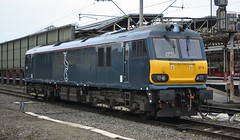 Waiting for its lift to Brush (TimboM) Tags: crewe 0z51 0k50 loughboroughbrush dyson class92 caledoniansleeper midnightteal caf dellner 92014 emilezola shunt creweholdingsidings lightengine wcml modifications cafmods mk5 gbrf gbrailfreight