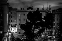 Home at night (Alejandrillo93) Tags: canon 550d 50mm stm night blackandwhite blancoynegro barcelona dark