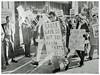 Boycott Farah pants—Hecht's downtown: 1972 (Washington Area Spark) Tags: farah pants slacks boycott strike amalgamated clothing textile workers union walkout work stoppage organizers picket washington dc 1972 labor