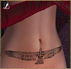 Eagle Belly -Carol G (loreleilcoeur) Tags: tatoo carolg secondlife women eagle belly
