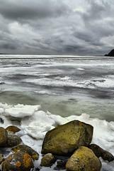 winter landscape (Neal J.Wilson) Tags: winter landscapes sea seascapes ice snow cold rocks shorelines coastlines clouds sky denmark jutland horsens nikon seasons
