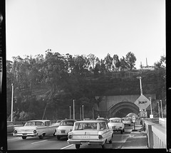 SF Bay Bridge - Yerba Buena Tunnel - 1961 (tonopah06) Tags: baybridge yerbabuena island yerbabuenatunnel i80 portal span negative kodak bw blackandwhite sfbaybridge thehump construction 1961 sanfranciscobaybridge interstate80 us50 us40