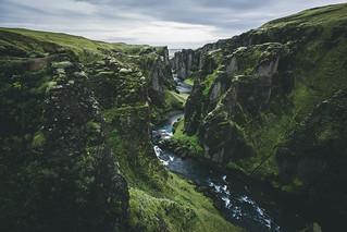 Canyons of Iceland.