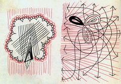 Diptych No. 2 (Daniel Ari Friedman) Tags: red color black drawing paper pen ink cartoon art draw freehand texture creative daniel friedman danielarifriedman symbol symbolism philosophy think usa stanford