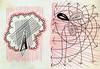 Diptych No. 2 (Daniel Ari Friedman) Tags: red color black drawing paper pen ink cartoon art draw freehand texture creative daniel friedman danielarifriedman symbol symbolism philosophy think usa stanford