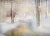 Wonderful January (BirgittaSjostedt) Tags: winter outdoor nature landscape snow river tree cottage paint birgittasjostedt scene texture