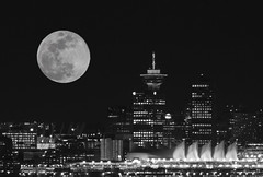 Moon Composite (first attempt) (ruthlesscrab) Tags: moon composite vancouver bw