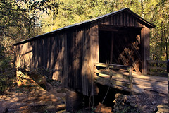Elder Mill Bridge, 1897 (Mike McCall) Tags: copyright2018mikemccall photography photo image georgia usa vernacular culture southern america thesouth unitedstates northamerica south historic oconeecounty oconee rosecreek eldermillbridge eldermill coveredbridge bridge covered wooden