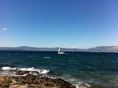 maritime (Suite116) Tags: sea bay craotia croazia water boat sailing sails ocean mare navigare navogazione seascape brac otokbrac otok waves wave onde rock rocks sky cielo