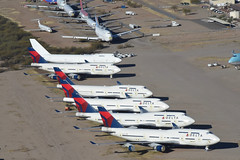 Delta Air Lines Boeing 747-400; N667US@MZJ;28.01.2018 (Aero Icarus) Tags: plane avion aircraft flugzeug arizona maranapinalairpark mzj deltaairlines boeing747400 n667us