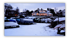 My surroundings in January (4) (andantheandanthe) Tags: january winter cold snow boat boats covered villa house residence