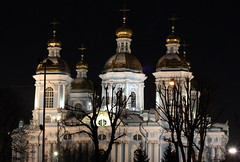 St.Nicholas Naval Cathedral at night (galinaderusia) Tags: stpetersburg cathedral night outdoors