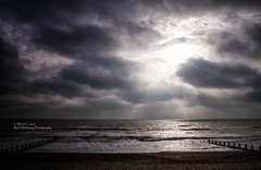 Bognor reflection (rhfo2o - rick hathaway photography) Tags: rhfo2o canon canoneos7d bognorregis westsussex beach sea seaside waves horizon sky clouds sun groyne