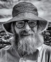 Old timer (David Feuerhelm) Tags: man nikkor character monochrome blackandwhite bw contrast hat glasses beard lyttleton christchurch newzealand nikon d750 nikkor2470mmf28
