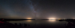 Loch Full Of Stars (Gordon Mackie) Tags: reflection lochcalder caithness scotland milkyway zodiacallight starryskies panorama
