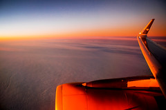 Morning flight (nic_r) Tags: sunrise clouds flying flight wing plane jet engine windowseatplease travel nikon d500