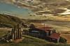 Puesta de sol en el Golfo de Bizkaia (Luis DLF) Tags: canon atardecer puestadesol sunset paisvasco bizkaia sopelana mar playa costa elpeñon