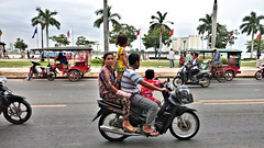 Have Family Will Travel (CAMBODIA) (ID Hearn Mackinnon) Tags: family people motorbike motorcycle phnom penh cambodia cambodian 2017 riverside road south east asia asian have will travel