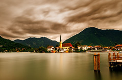 Hidden Pearl (BeNowMeHere) Tags: ifttt 500px trip alps baviera bayern benowmehere germany lake rottachegern schliersee tegernsee church clouds hiddenpearl longexposure travel